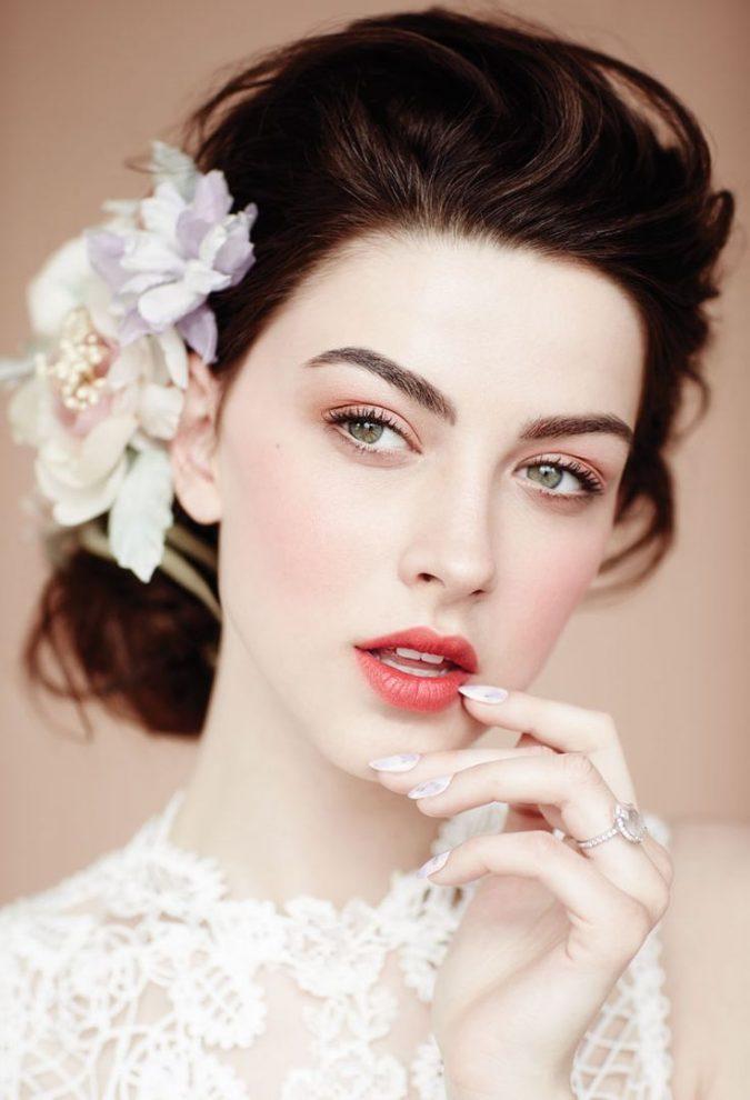 bridal-makeup-strong-brows-675x990 Top 10 Wedding Makeup Ideas for 2018 Brides