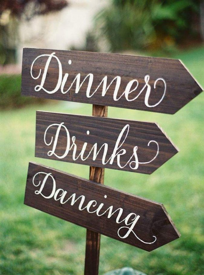 calligraphy-wedding-sign-675x909 10 Outdated Wedding Trends to Avoid in 2018
