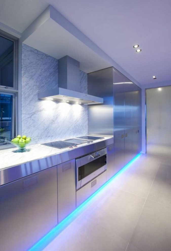 contemporary-kitchen-design-modern-kitchen-led-lighting-675x989 Top 10 Hottest Kitchen Design Trends in 2020