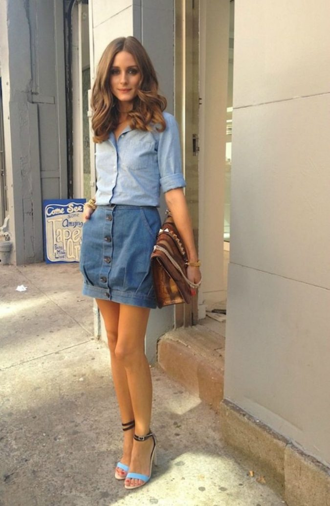 denim-skirt-women-outfit-675x1035 Top 10 Lovely Spring & Summer Outfit Ideas for 2018