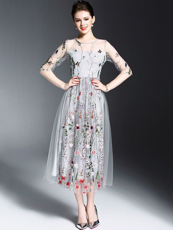 floral-midi-dress-women-summer-outfit Top 10 Lovely Spring & Summer Outfit Ideas for 2020
