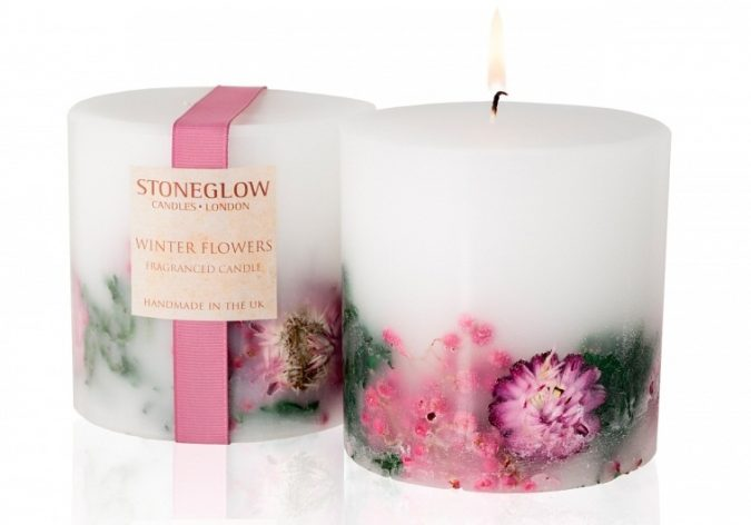flower-scented-candles-Winter-flowers-Pillar-1-675x472 Top 10 Best Wedding Anniversary Gift Ideas for 2018