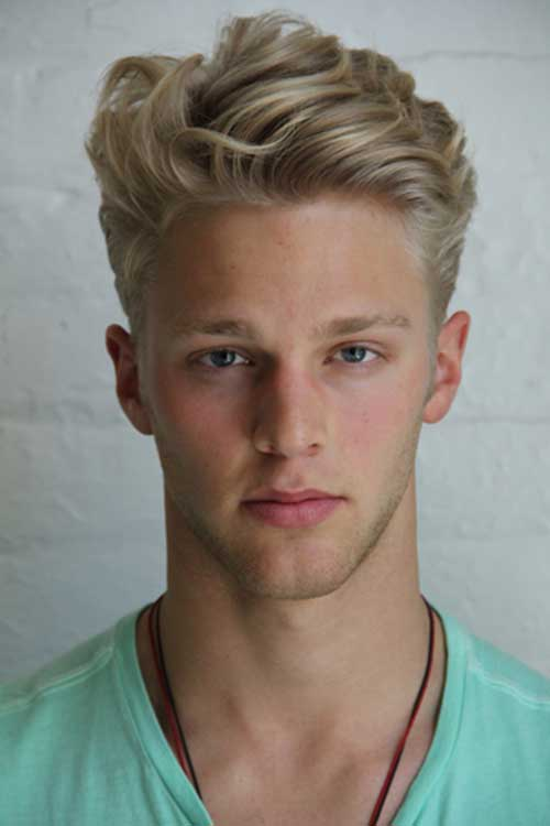 front-wave-hairstyle-Blonde-Haircut-for-Men Top 10 Hairstyles for Guys with Blonde Hair [2020 Trends]