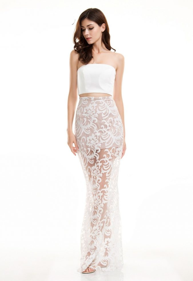 full-lace-maxi-strapless-dress-675x981 Top 10 Lovely Spring & Summer Outfit Ideas for 2020