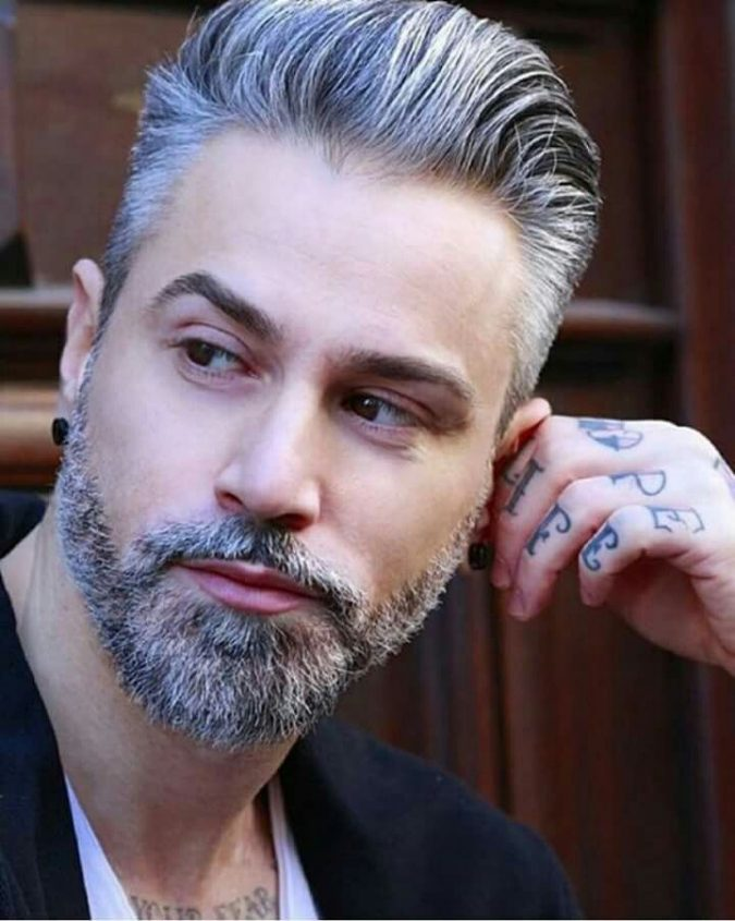 grey-hair-and-beard-675x845 Top 10 Most popular Beard Colors Trending in 2020