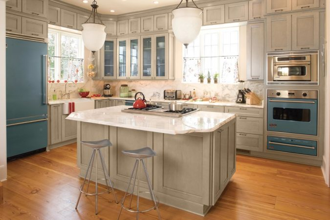 kitchen-with-Colorful-appliances-2-675x450 Top 10 Hottest Kitchen Design Trends in 2018