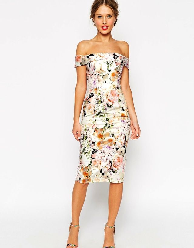 off-shoulder-Floral-cocktail-dress-women-summer-outfit Top 10 Lovely Spring & Summer Outfit Ideas for 2020