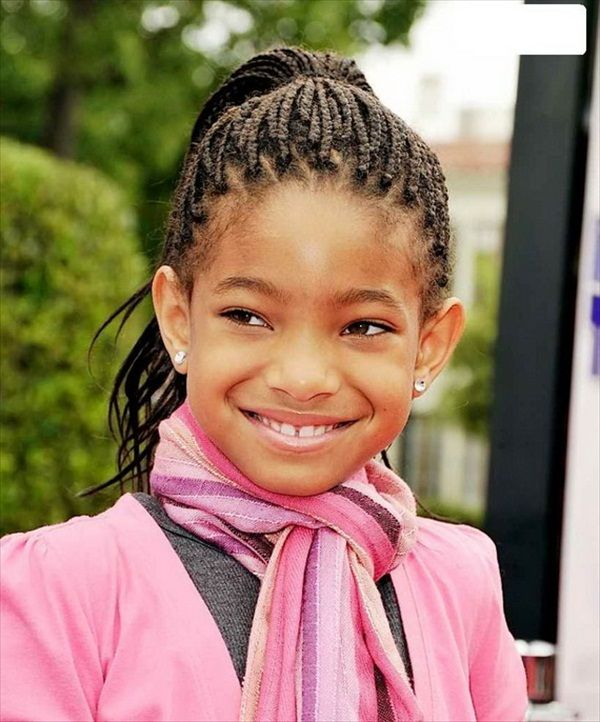 ponytail-braids-hairstyle Top 10 Cutest Hairstyles for Black Girls in 2020