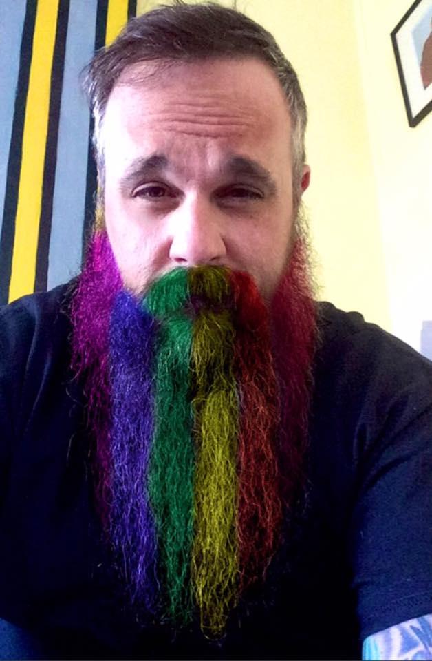 rainbow-beard Top 10 Most popular Beard Colors Trending in 2020