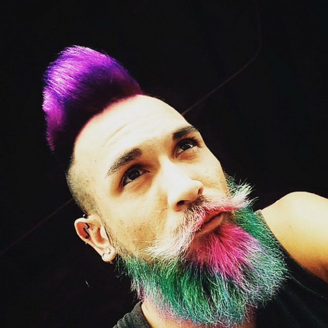 rainbow-hair-and-beard-675x675 Top 10 Most popular Beard Colors Trending in 2020