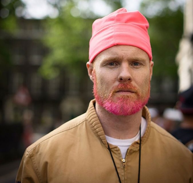 shallow-pink-beard-675x639 Top 10 Most popular Beard Colors Trending in 2018