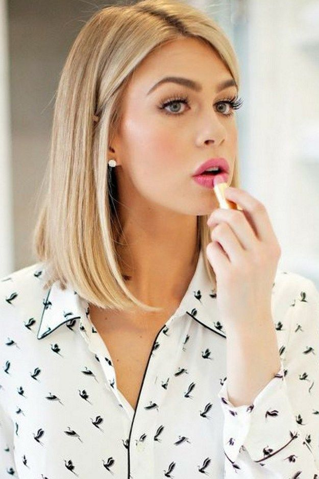 straight-lob-hairstyle-for-blond-women Top 10 Professional Hairstyles for Blonde Women in 2018