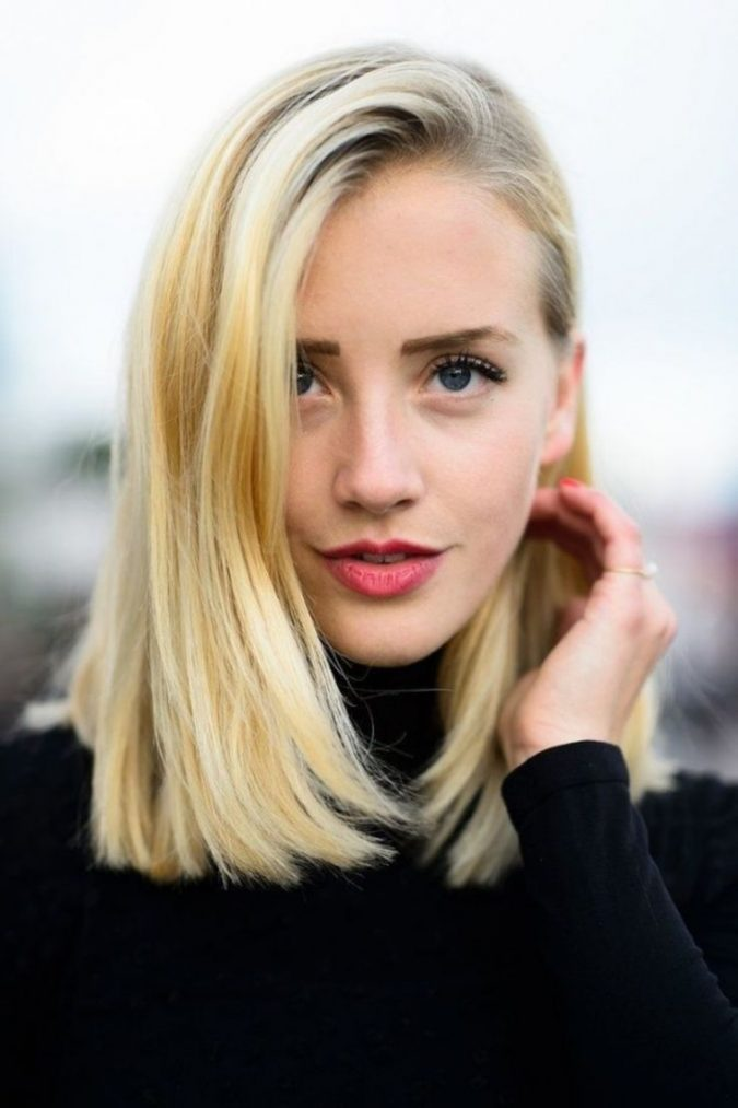 straight-lob-long-bob-hairstyle-675x1013 Top 10 Professional Hairstyles for Blonde Women in 2018