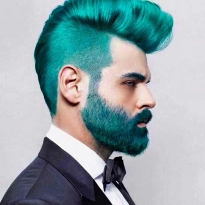turquoise-hair-and-beard-2-675x673 Top 10 Most popular Beard Colors Trending in 2020