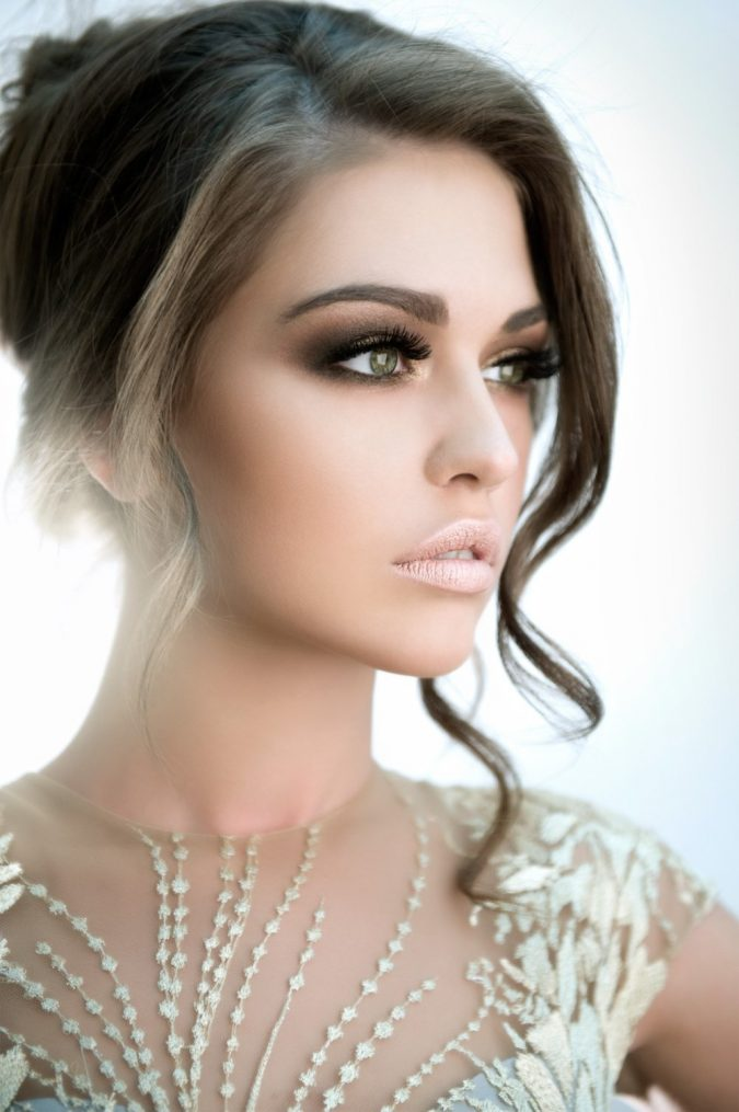 wedding-bridal-makeup-nude-lips-675x1015 Top 10 Wedding Makeup Ideas for 2018 Brides