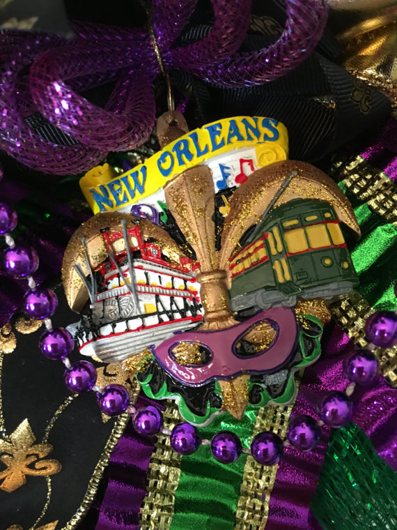 word-image-1 Fat Tuesday is Coming! 11 Classy Mardis Gras Wreaths for Your Front Door