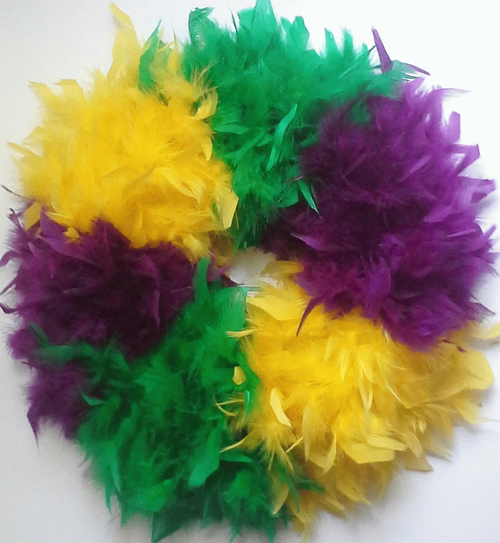 word-image-10 Fat Tuesday is Coming! 11 Classy Mardis Gras Wreaths for Your Front Door