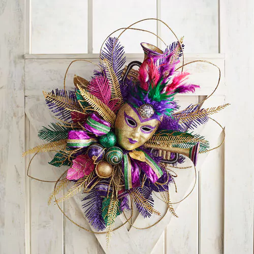 word-image-3 Fat Tuesday is Coming! 11 Classy Mardis Gras Wreaths for Your Front Door