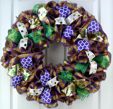 word-image-4 Fat Tuesday is Coming! 11 Classy Mardis Gras Wreaths for Your Front Door