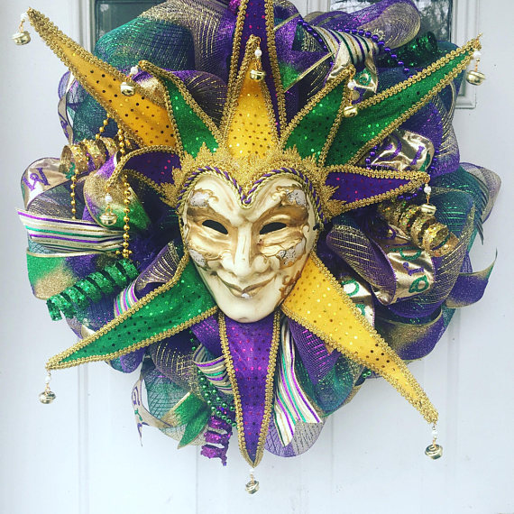 word-image-5 Fat Tuesday is Coming! 11 Classy Mardis Gras Wreaths for Your Front Door