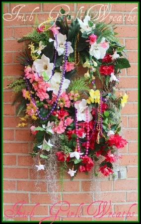 word-image-6 Fat Tuesday is Coming! 11 Classy Mardis Gras Wreaths for Your Front Door