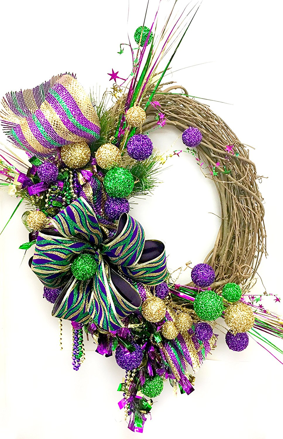 word-image-8 Fat Tuesday is Coming! 11 Classy Mardis Gras Wreaths for Your Front Door