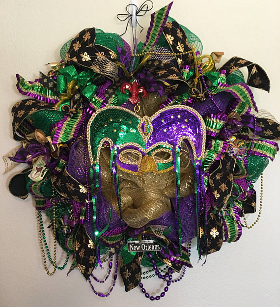 word-image Fat Tuesday is Coming! 11 Classy Mardis Gras Wreaths for Your Front Door