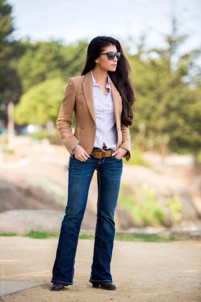 Boot-Cut-Jeans-outfir-675x1013 8 Tips to Choose the Best Jeans for Your Body Shape