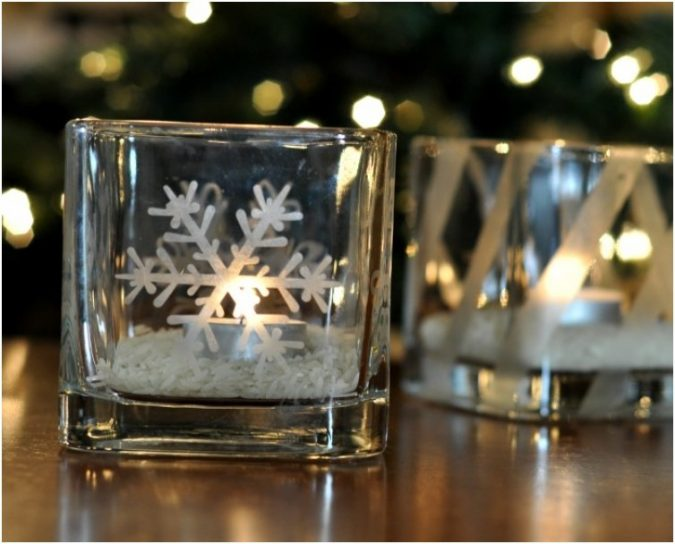 Glass-Etched-Votive-Candle-Holders-675x544 Top 10 Ideas To Make Your Home Look Magical and Enjoyable For Holidays