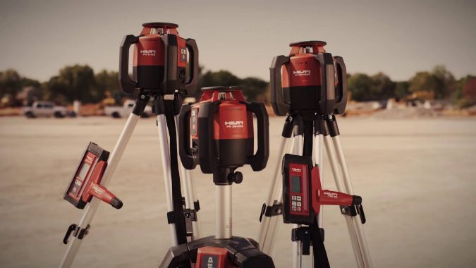 Hilti-PR-2-HS-Rotating-Laser-675x380 Top 10 Best Construction Tools List in 2020 ... [with pictures]
