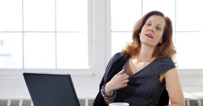 Menopausal-woman-675x354 Symptoms and Consequences of Having Low Levels of Estrogen and Progesterone