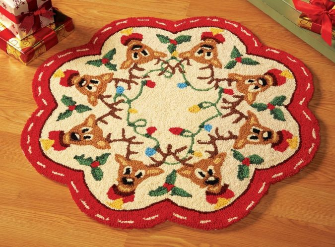 Reindeer-Christmas-Holiday-Rug-675x498 Top 10 Ideas To Make Your Home Look Magical and Enjoyable For Holidays