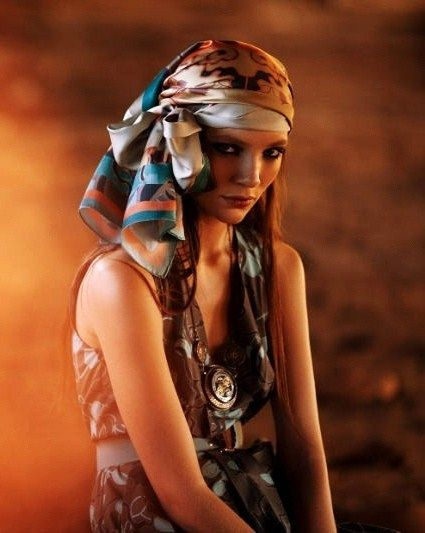 bohemian-1 7 Trendy Ways To Wear Headscarves That are Creative