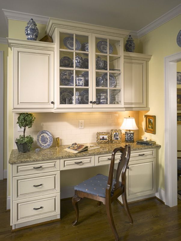 desk-in-kitchen 10 Outdated Kitchen Trends to Avoid in 2020
