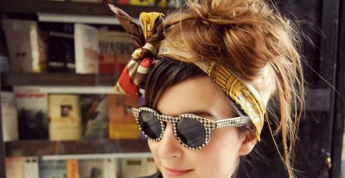 funky-bow-hair-scarf-2-675x350 7 Trendy Ways To Wear Headscarves That are Creative