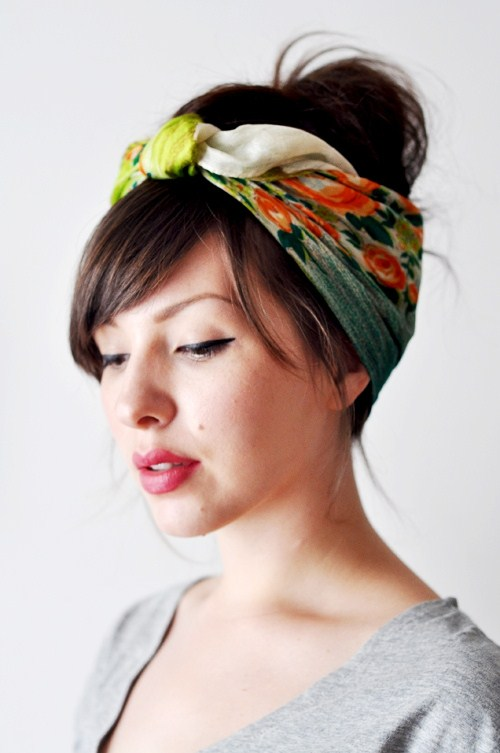 hidden-bow-silk-scarves-for-hair 7 Trendy Ways To Wear Headscarves That are Creative