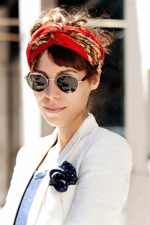 hidden-tie-head-scarves-how-to-tie-a-head-scarf 7 Trendy Ways To Wear Headscarves That are Creative
