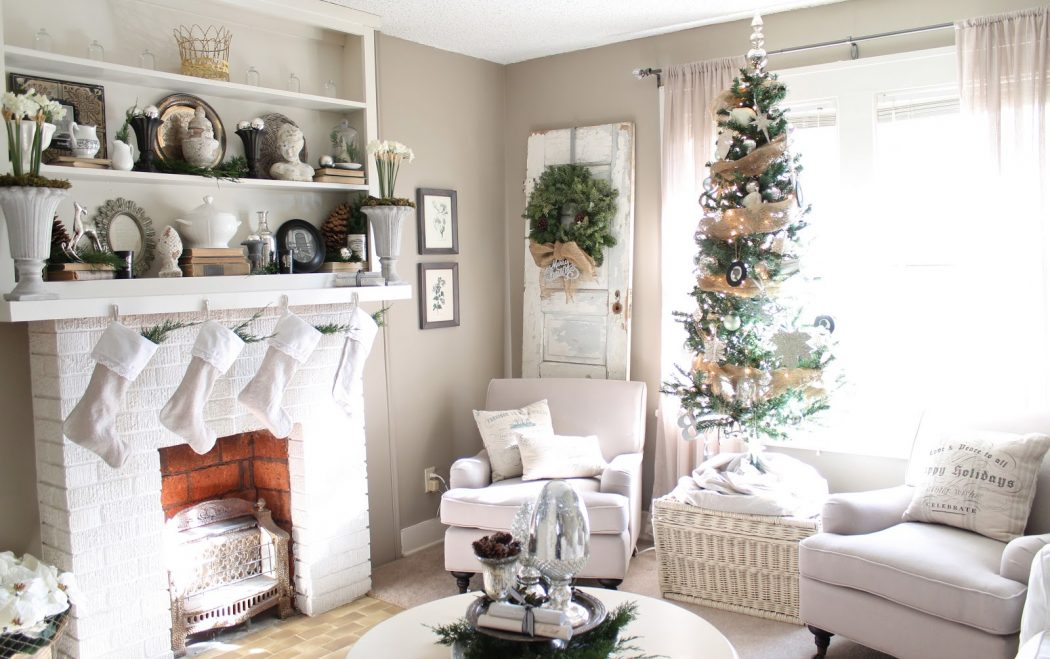 living-room-living-room-christmas-decorations-formidable 11 Tips on Mixing Antique and Modern Décor Styles