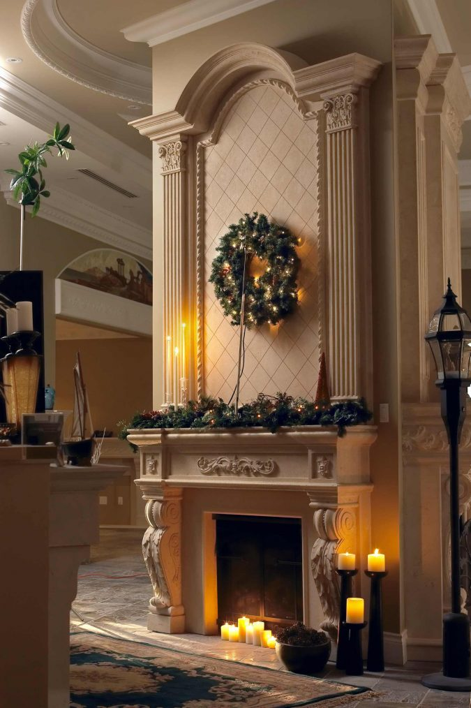 livingroom-decorations-lovable-green-christmas-wreaths-over-the-mantel-675x1014 Top 10 Ideas To Make Your Home Look Magical and Enjoyable For Holidays