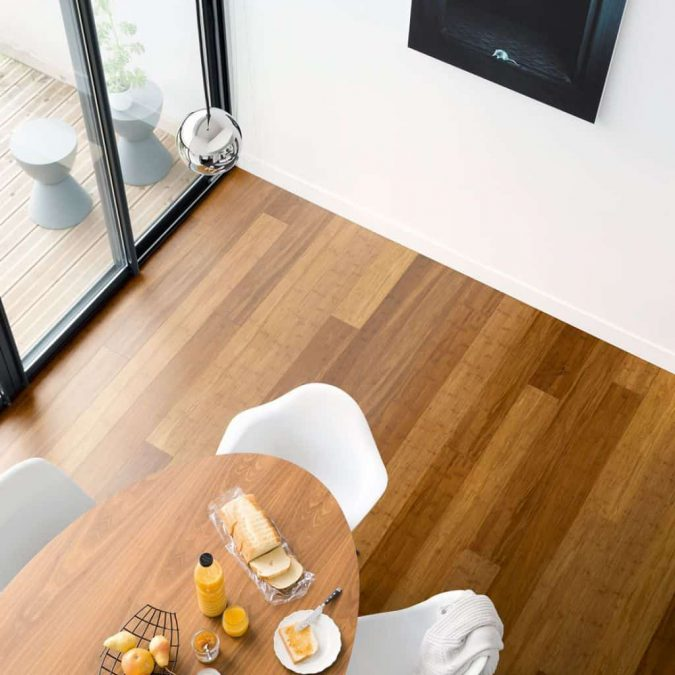 minimalist-dining-room-with-bamboo-flooring-675x675 Top 10 Innovative Flooring For Your New House