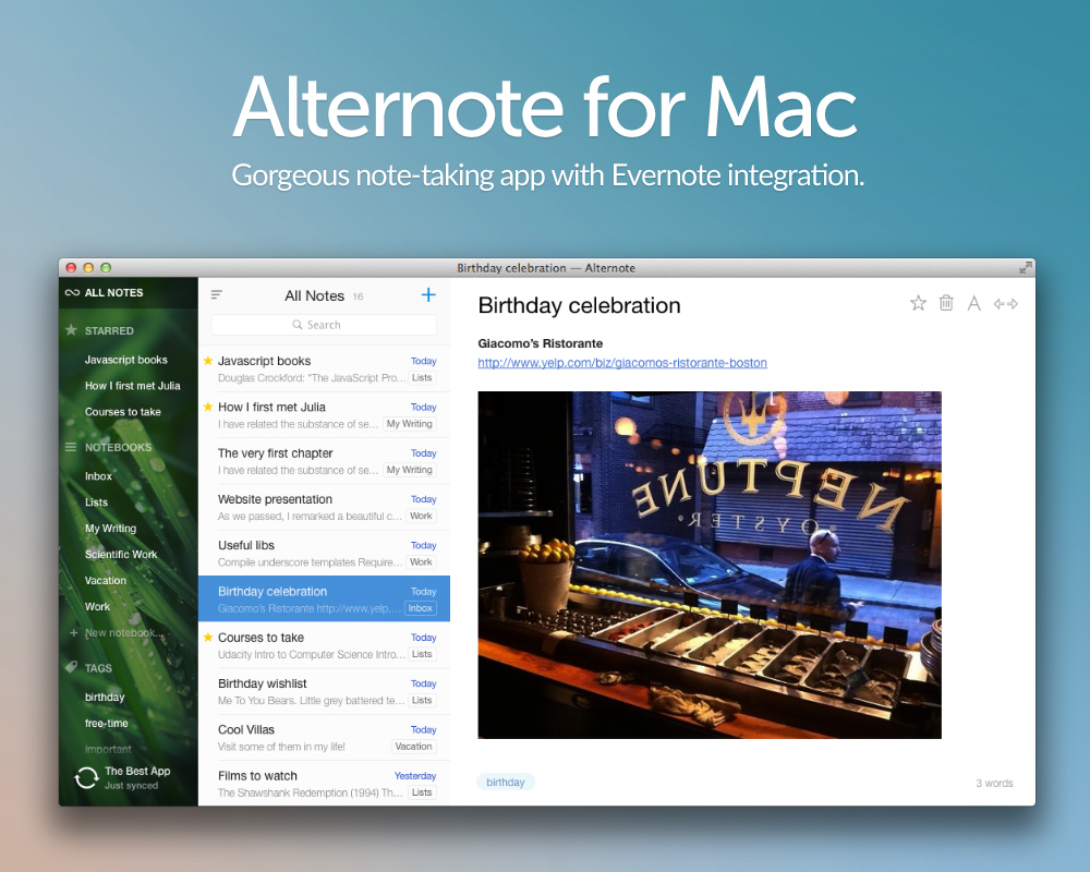 Alternote 6 Best Note Management Software Products on Mac
