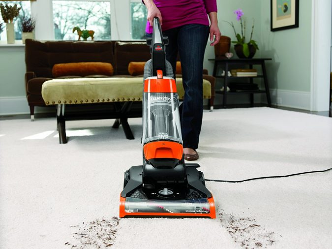 Bissell-CleanView-Bagless-Upright-Vacuum-675x506 All There Is To Know About Bissell Vacuum Cleaner
