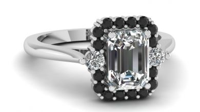 Photo of Emerald Cut Diamond Platinum Engagement Rings
