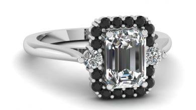 Photo of Emerald Cut Diamond Platinum Engagement Rings
