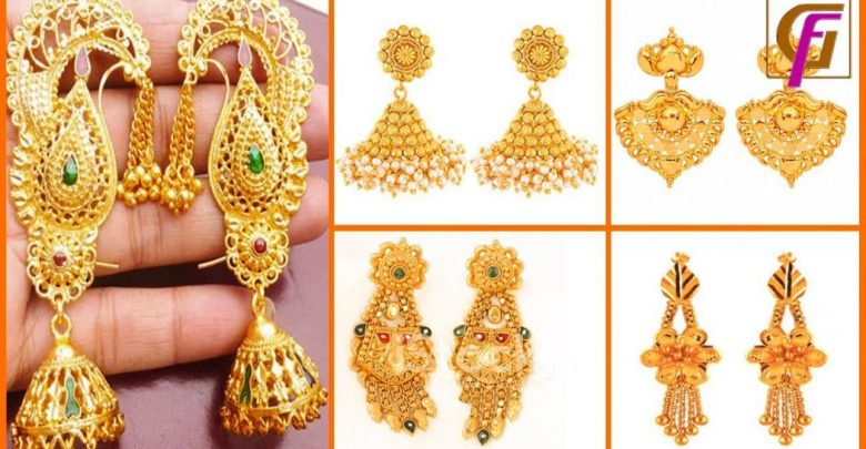 dd1849058ea30 Latest Gold Earrings Designs 2019 | Pouted.com