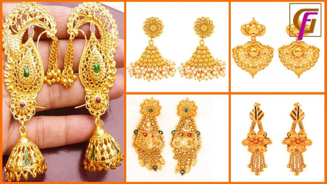 Latest Gold Earrings Designs 2019