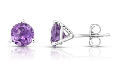 Photo of Most Popular White Gold Amethyst Earrings Designs