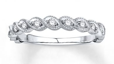 Photo of Single Row Diamond Anniversary Bands