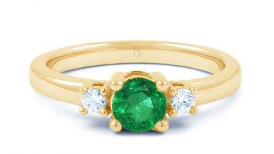 Photo of Top Designed 3 Stone Signature Emerald Cut Rings