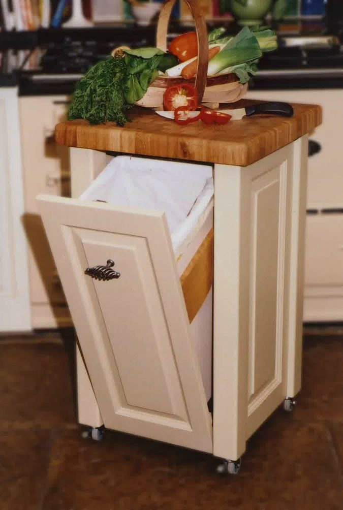 home-decore-wastebasket-Exploitation-of-narrow-spaces-in-kitchen-675x1004 10 Awesome Decor Ideas to Borrow from Pinterest Influencers